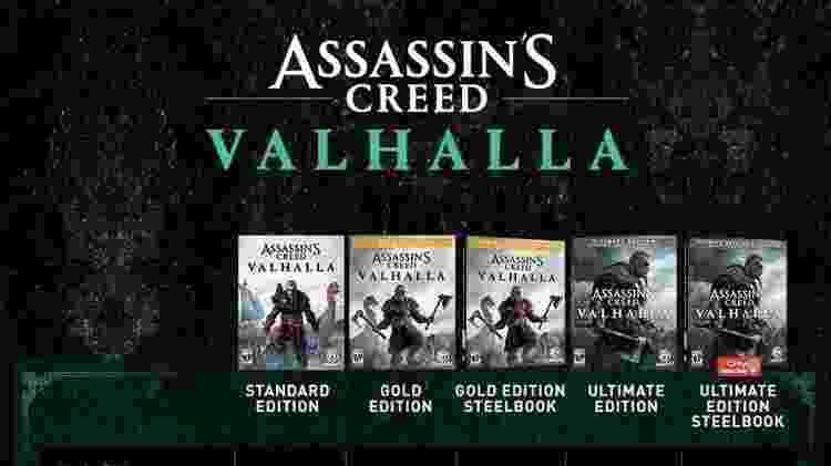 Assassin's Creed Valhalla versões - Reprodução - Reprodução