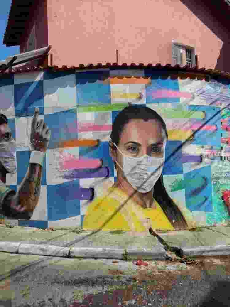 Grafite do artista Digão na Brasilândia - Arquivo Pessoal - Arquivo Pessoal