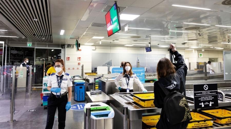 Entre os aeroportos que já anunciaram que terão a testagem rápida, estão os localizados na região do Vêneto e o de Fiumicino, em Roma - Getty Images