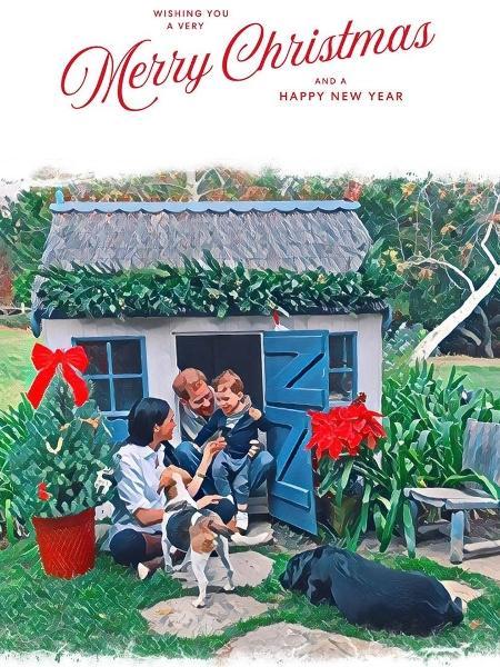 Cartão de Natal do Príncipe Harry, Meghan Markle e seu filho Archie - Reprodução/Instagram