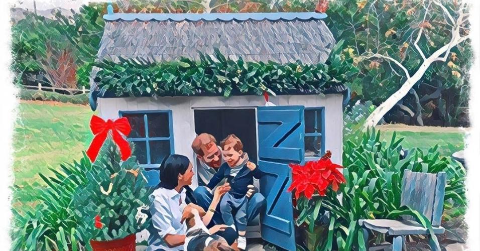 Cartão de Natal do Príncipe Harry e Meghan Markle