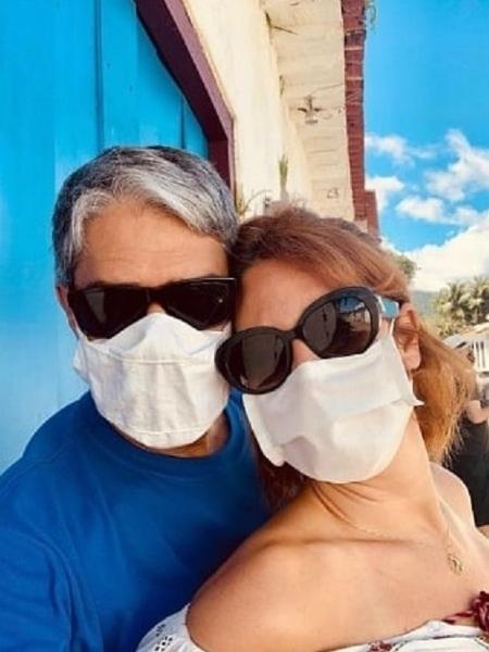 William Bonner e a esposa, Natasha Dantas - Reprodução/Instagram @natydantasvdiva