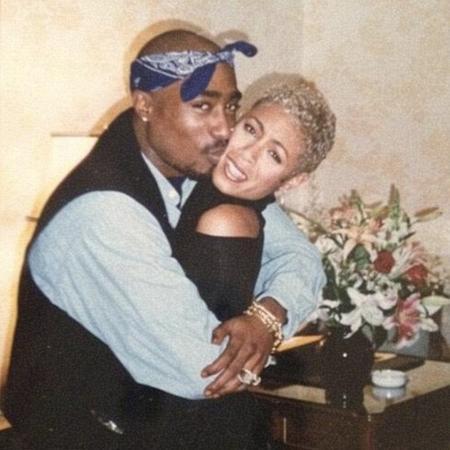 Tupac e Jada Smith - Reprodução/Twitter