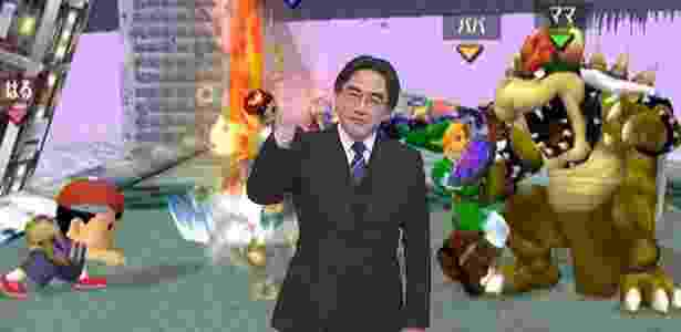Satoru Iwata (Smash Bros.) - Montagem/UOL - Montagem/UOL