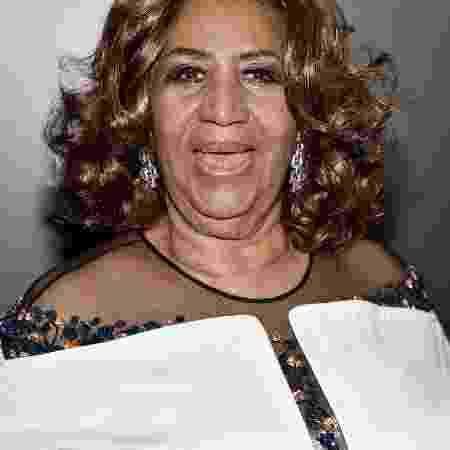 17.dez.2015 - A cantora Aretha Franklin participa de evento de jazz no Lincoln Center, em Nova York - Mike Coppola/Getty Images for Jazz at Lincoln Center - Mike Coppola/Getty Images for Jazz at Lincoln Center