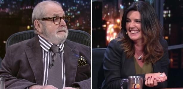 29.jun.2016 - Jô Soares é interrompido por celular de Mara Luquet na Globo - Montagem/Reprodução/TV Globo