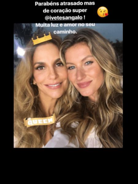 Ivete e Gisele - Reprodução/Instagram