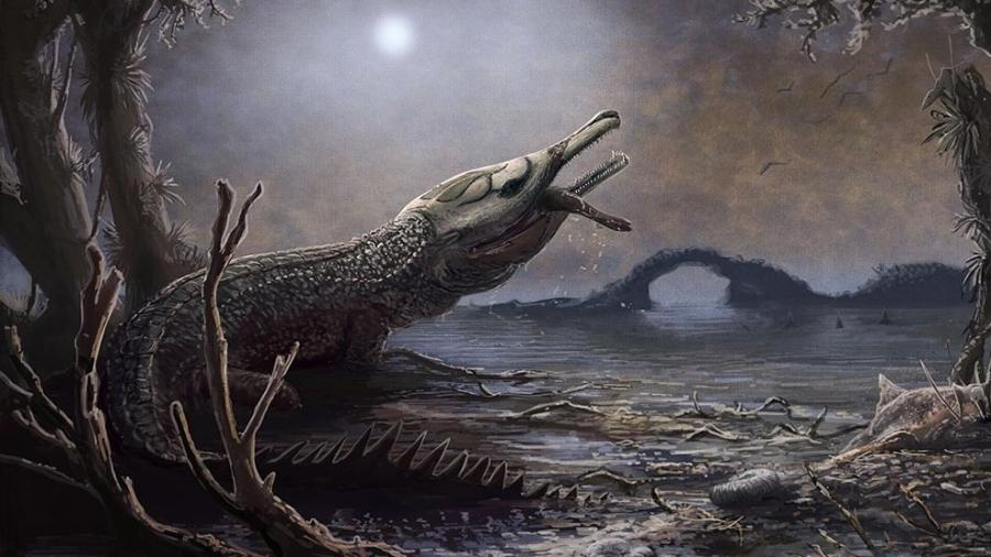 O crocodilo pré-histórico Lemmysuchus obtusiden recebeu o nome por causa de Lemmy Kilmister - Divulgação