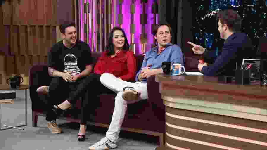 "Theo Becker, Li Martins e Rodrigo Capella no ""Programa do Porchat"" - Antonio Chahestian/RecordTV"