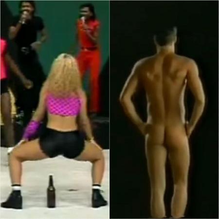 Não sabemos a música, mas a TV brasileira já teve a sua fase anal - Reprodução/SBT/TV Globo/YouTube Montagem/UOL