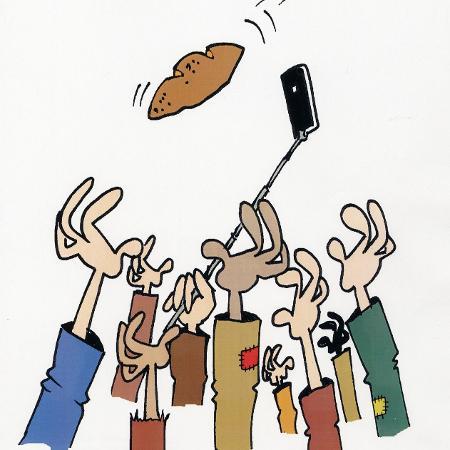Charge do cartunista brasileiro Ronaldo Cunha Dias - Reprodução