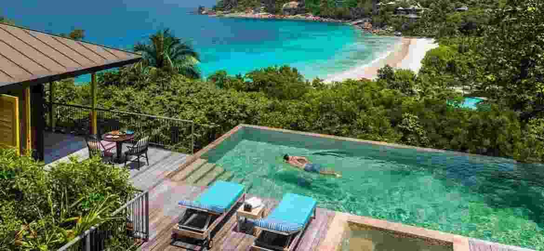 Piscina do Four Seasons Resort Seychelles - Divulgação