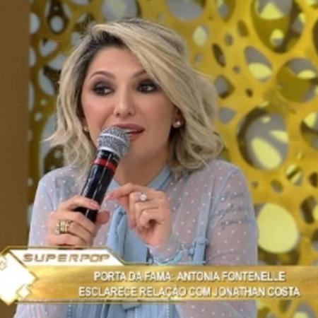"""Antonia Fontenelle no """"Superpop"""" - Reprodução/ Rede TV"""
