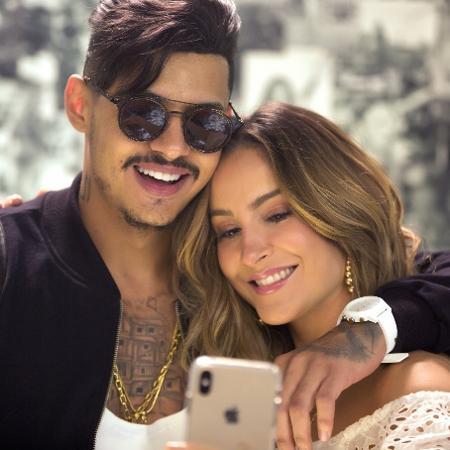 """Cláudia Leitte e o rapper Hungria, que participa da música """"Saudade"""" - Osmar Gamma/Divulgação"""