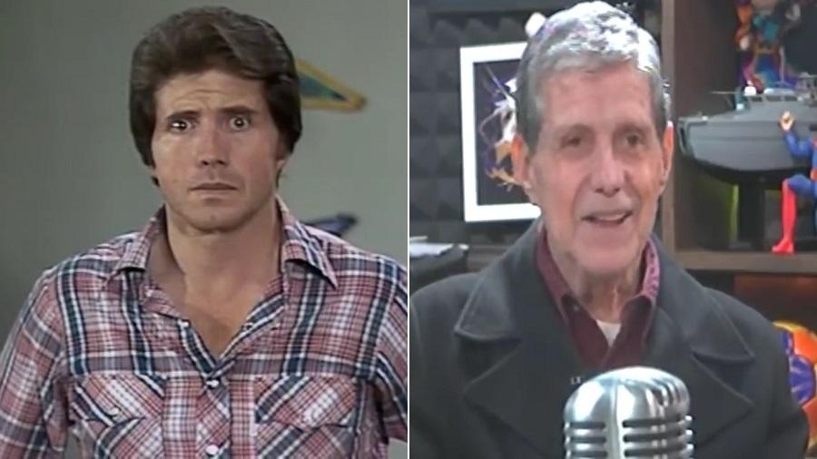 O ator mexicano Hector Bonilla em 1979 e atualmente - Montagem/UOL/Reprodução