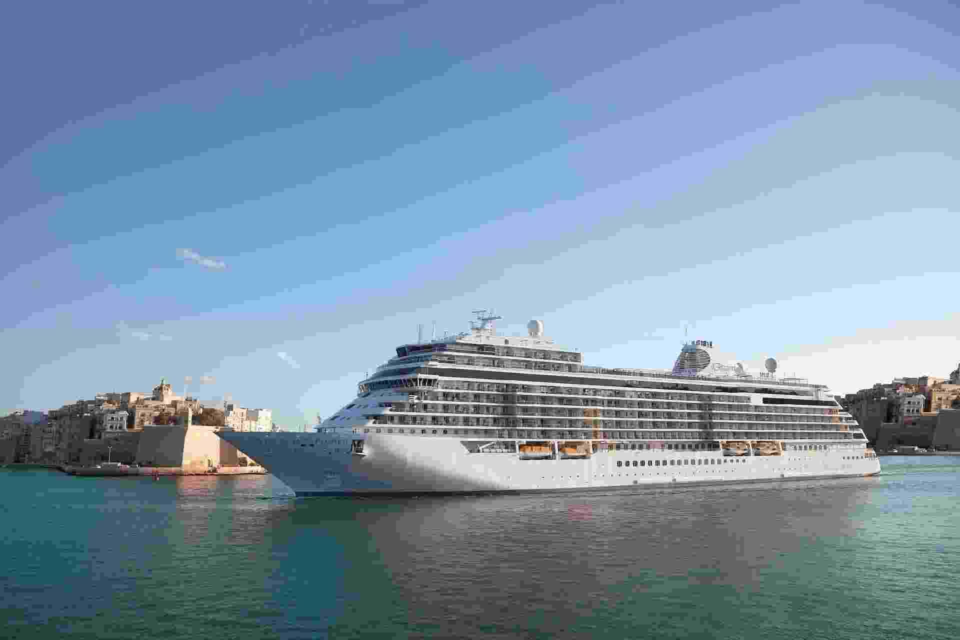 O Seven Seas Explorer é um dos navios mais luxuosos do mercado de cruzeiros - Divulgação/Regent Seven Seas