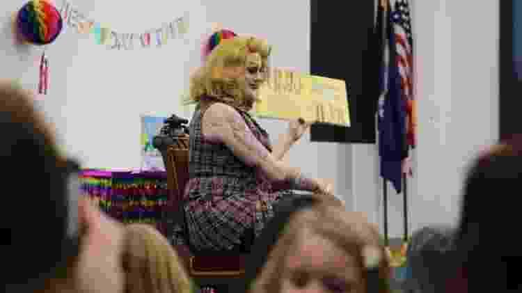 Rylee Hunty ajudou a organizar o evento em Greenville - BBC - BBC