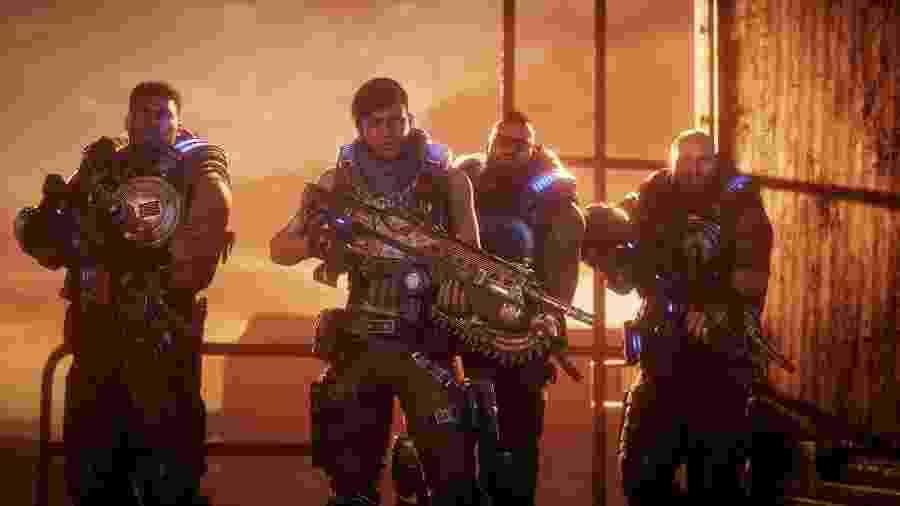 """Kait Diaz, que ficou em segundo plano em """"Gears of War 4"""", agora é o destaque do jogo - Divulgação"""