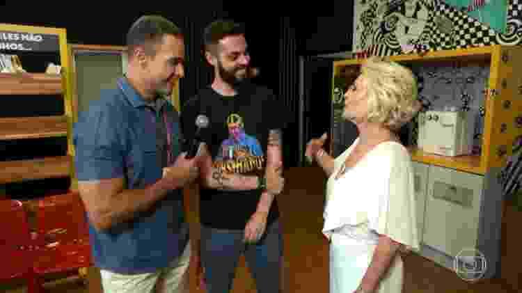 Ana Maria Braga e Cauê Fabiano se conhecem pessoalmente - Reprodução/Twitter/Globo