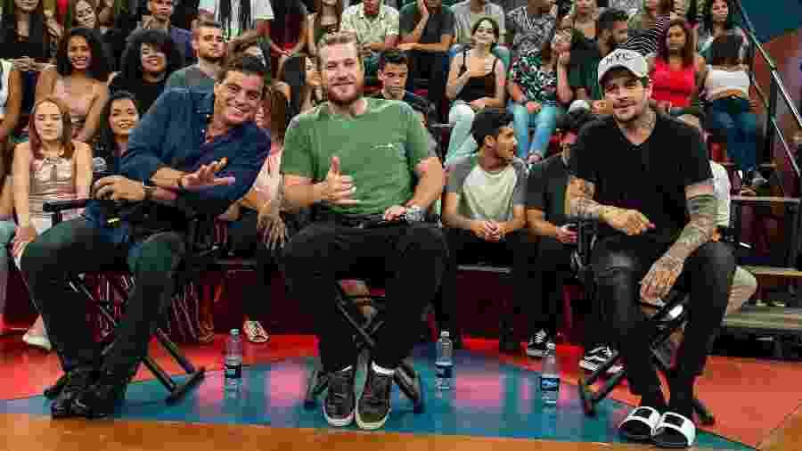 Dhomini, Diego Alemão e Rafinha, três campeões do Big Brother Brasil, reality show da Globo - Divulgação/TV Globo