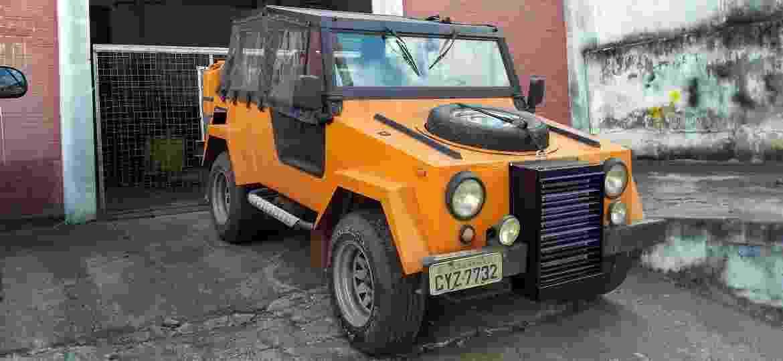 VEMP de Francisco Rossi foi adquirido em 1999 e teria pertencido a Wolfgang Sauer, ex-presidente da VW; jipe recebeu motor AP e radiador na dianteira - Arquivo pessoal