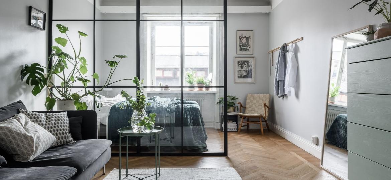 Pintura, objetos de decoração e mobília podem te ajudar a criar ilusão de que a kitnet é maior - Reprodução/Pinterest