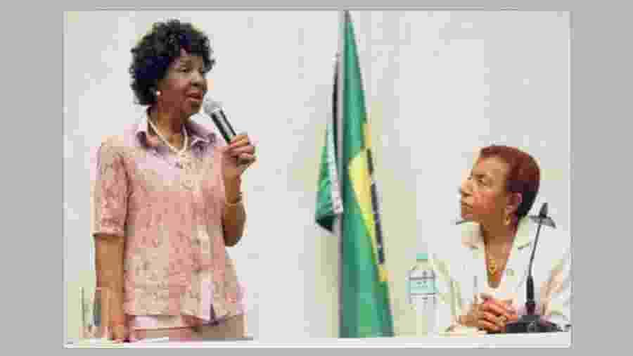 Theodosina Rosário Ribeiro (à esq.) foi eleita vereadora em 1970 e deputada estadual em 1974 - Reprodução / Facebook