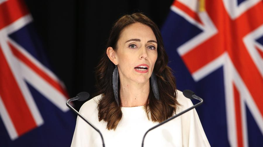 """Jacinda Arden, primeira-ministra da Nova Zelândia, afirmou que país terá """"novos casos"""" no futuro - Getty Images"""