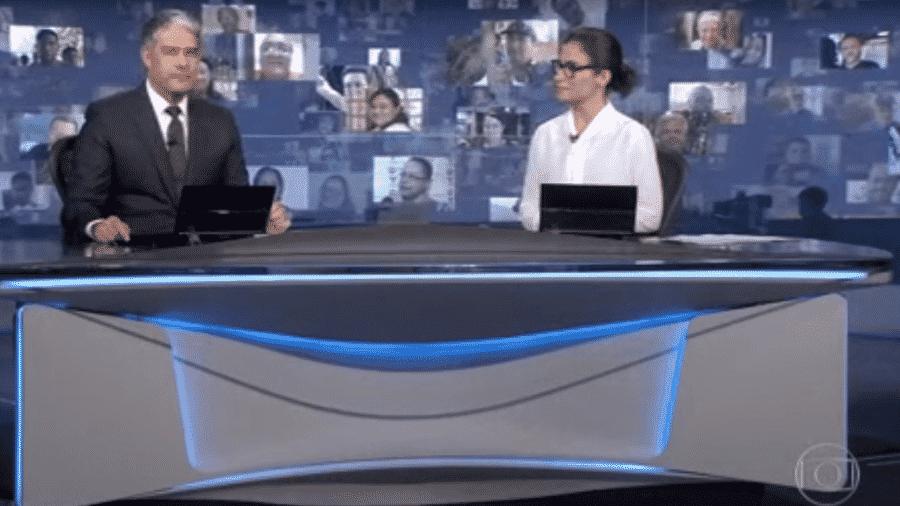 William Bonner e Renata Vasconcellos, apresentadores do Jornal Nacional  - Reprodução/Globoplay