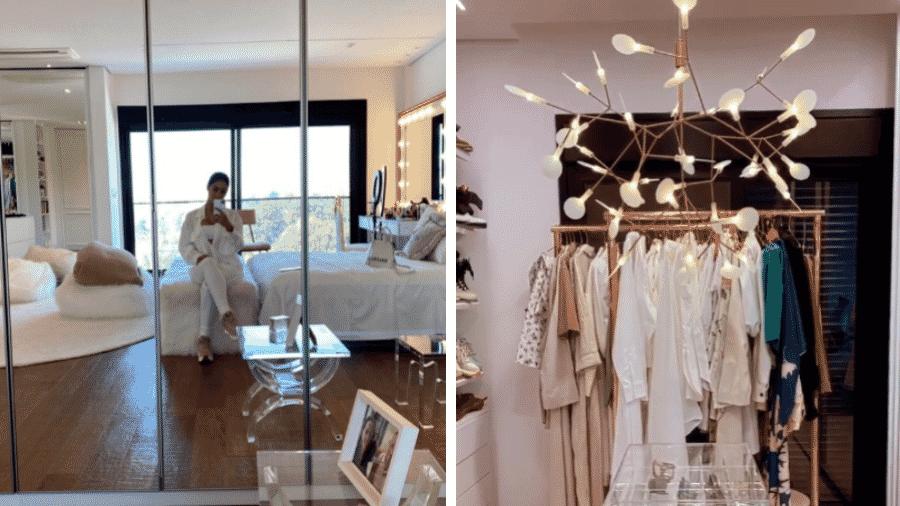 """Simaria mostra detalhes de quarto e closet """"minimalistas"""" - Reprodução/Instagram/@simaria"""