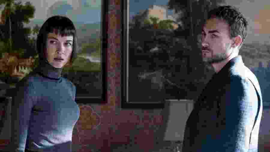 """Os irmãos Ana (à esq.) e Daimon Helstrom em cena de """"Helstrom"""", produção da Marvel - Reprodução"""