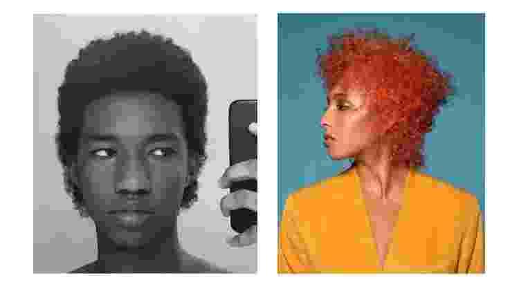 Exemplos de cortes para afro mullet - Reprodução/Twitter - Reprodução/Twitter
