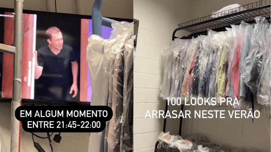 """Tiago Leifert mostrou espera em camarim e aproveitou para dar prévia de looks do """"BBB 21"""" - Reprodução/Instagram"""