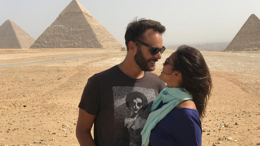 Henrique e Priscilla no Egito - Arquivo pessoal