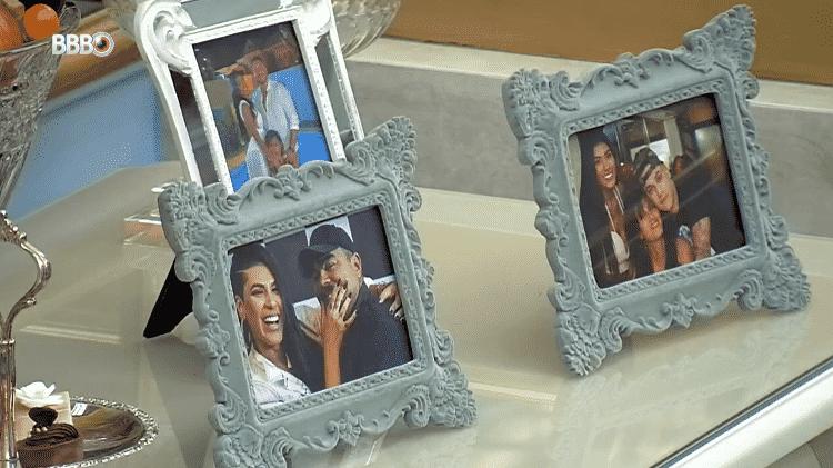 BBB 21: Fotos da família de Pocah no quarto do líder - Reprodução/Globoplay - Reprodução/Globoplay