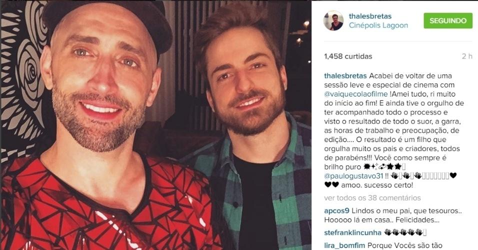 Paulo Gustavo e namorado