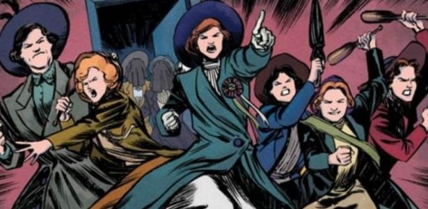 Grupo de mulheres britânicas resolveu lutar pelo direito ao voto - Jet City Comics/Joao Vieira