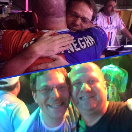 05.01.2016 - Ronny Potolski e Jairo Roizen comemoram as vitórias de seus sambas na Pérola Negra e na Unidos do Peruche, do Grupo Especial do Carnaval de São Paulo