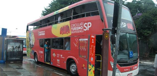 Ônibus do Circular Turismo SP, que percorrerá os pontos turísticos e históricos da cidade - Luiz Guadagnoli/SECOM