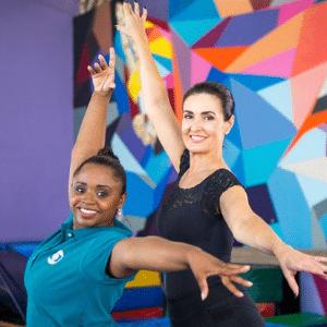 Fátima Bernardes encara aulas de ginástica artística - Reprodução/TV Globo