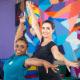 Fátima Bernardes encara aulas de ginástica artística: