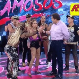 Valesca Popozuda ri e se desculpa com Faustão - Reprodução/TV Globo