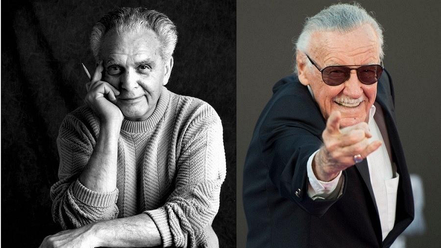 """Jack Kirby e Stan Lee, """"pais"""" do universo Marvel - Divulgação/Getty/Montagem"""