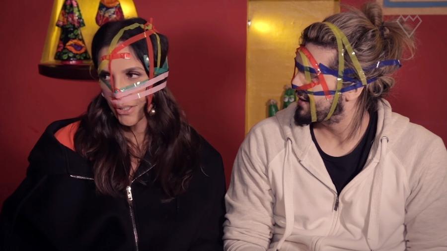Ivete Sangalo e Luan Santana em vídeo para o canal da cantora no YouTube - Reprodução/YouTube