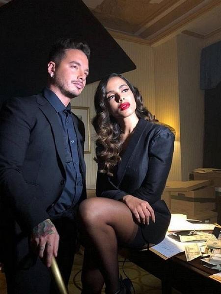 Anitta e o colombiano J Balvin - Reprodução/Instagram