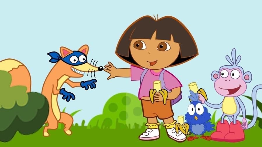 """Cena do desenho """"Dora, A Aventureira"""" - Reprodução/YouTube"""