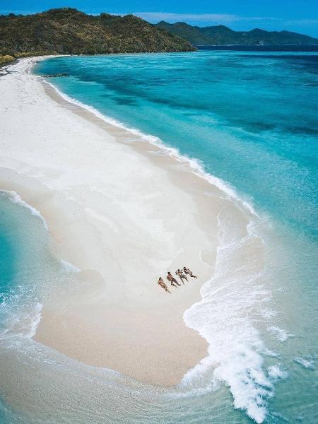 Linapacan tem águas transparentes e é um destino pouco explorado pelos turistas - Reprodução Instagram
