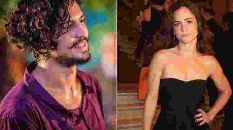 """Gabriel Leone e Alice Braga serão protagonistas do filme """"Eduardo e Mônica"""" - Reprodução/Montagem - Reprodução/Montagem"""