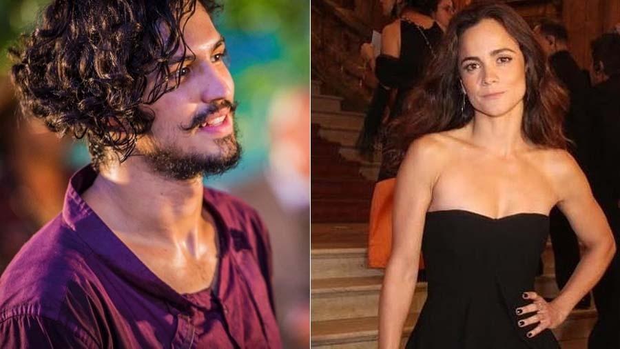 """Gabriel Leone e Alice Braga serão protagonistas do filme """"Eduardo e Mônica"""", de René Sampaio - Montagem UOL"""