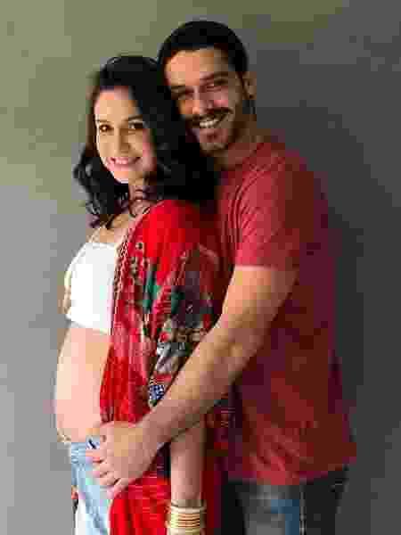 Aline Fanju está grávida de quatro meses do namorado, o ator e diretor Marcelo Cavalcanti - Reprodução/Instagram